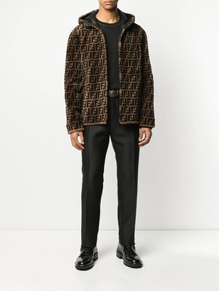 Fendi Reversible Leather & Shearling Jacket