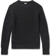 Eidos - Ribbed Mélange Cashmere and Cotton-Blend Sweater