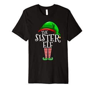Sister Elf Family Matching Group Christmas Gift Funny Women Premium T-Shirt