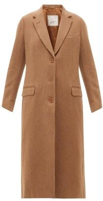 Giuliva Heritage Collection The Tatjana Single-breasted Herringbone-twill Coat - Camel