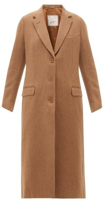 Giuliva Heritage Collection The Tatjana Single-breasted Herringbone-twill Coat - Womens - Camel