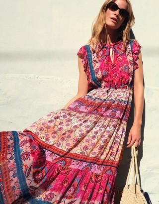 Monsoon Tamalia Printed Maxi Dress LENZING ECOVERO Pink