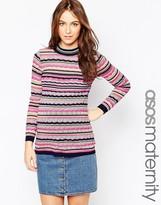 Asos Stripe Sweater With Lurex