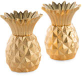 One Kings Lane Set of 2 Pineapple Salt & Pepper Set - Gold
