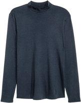 H&M Cotton Turtleneck Top - Dark blue - Men