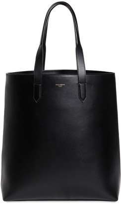 Dolce & Gabbana Leather Tote W/ Logo Detail