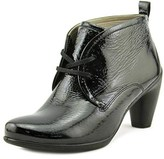 Ecco Sculptured 65 Lace Bootie Round Toe Patent Leather Ankle Boot.
