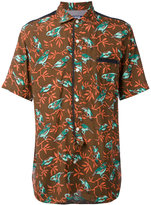 Junya Watanabe Comme Des Garçons Man - bird print short sleeve shirt - men - Cotton - M