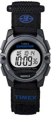 Timex Expedition Womens Black Nylon Strap Sport Watch TW4B02400 Family