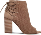 Nine West Britt embossed faux-leather open-toe boots