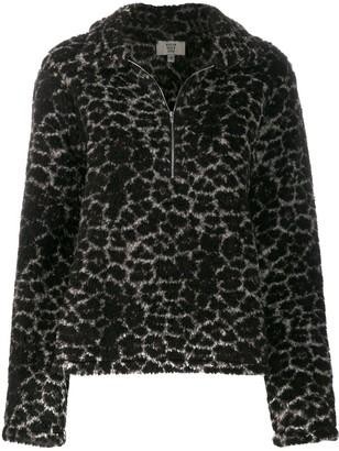 Maryam Nassir Zadeh Faux Fur Zip-Up Sweater