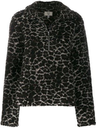 Maryam Nassir Zadeh faux fur zip-up sweater