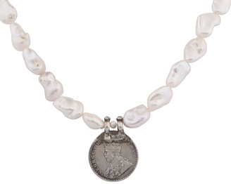 Carousel Jewels Antique Monarchs Coin & Baroque Pearl Necklace