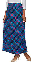 As Is Denim & Co. Plaid Printed Pull-on Maxi Skirt