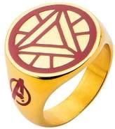 Iron Man Ironman Men's Marvel® Avengers Ironman Stainless Steel Arc Reactor Ring - Gold