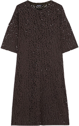 Balmain Distressed Cotton-jersey Dress