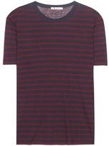 Alexander Wang Striped Linen-blend T-shirt