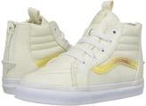 Vans Kids Sk8-Hi Zip White/True White) Girls Shoes