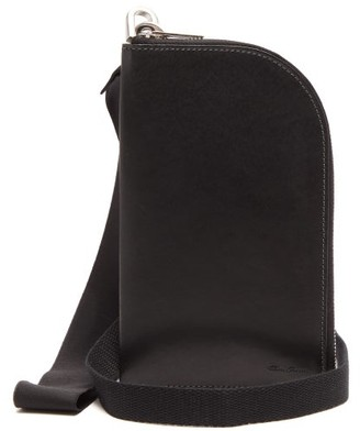 Rick Owens Neck-strap Leather Wallet - Womens - Black