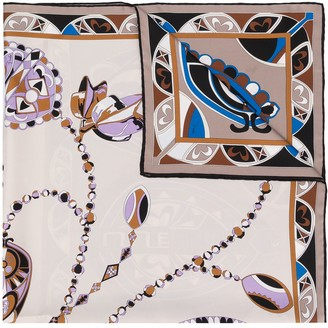 Emilio Pucci Abstract Floral Print Scarf