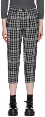 Comme des Garcons Black and Grey Check Trousers