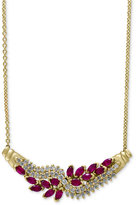 Effy Ruby (1-5/8 ct. t.w.) and Diamond (5/8 ct. t.w.) Collar Necklace in 14k Gold