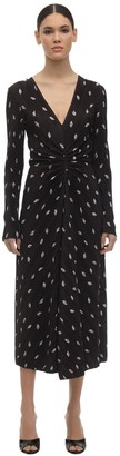 Rotate by Birger Christensen Number 7 Printed Stretch Jersey Dress