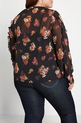 ModCloth Pleased to Meet You Sheer Blouse