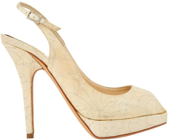Jimmy Choo Beige Cloth Heels