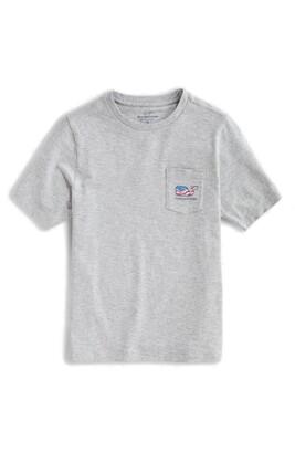 Vineyard Vines Waving Flag Whale Pocket T-Shirt