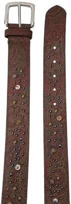 Etro Stud-Embellished Leather Belt