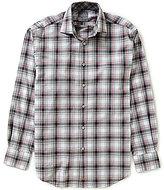 Thomas Dean Long-Sleeve Plaid Woven Shirt