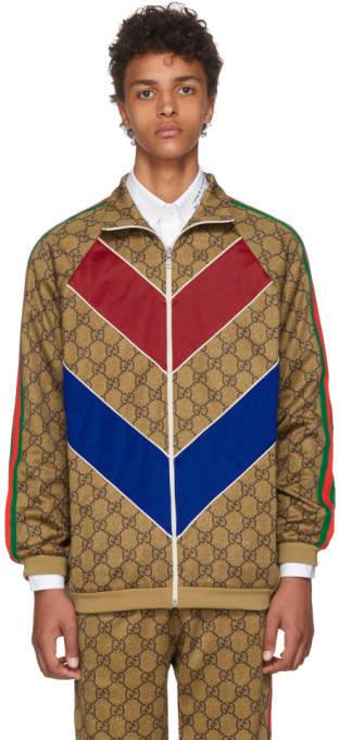 Gucci Tan GG Vintage Track Jacket