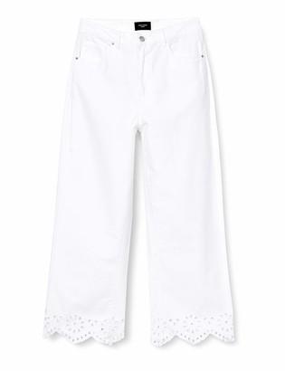 Vero Moda Women's Vmkathy SHR Wide Cropped Lace Jeans Ki