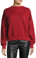 Isabel Marant Moby Crewneck Sweatshirt, Red