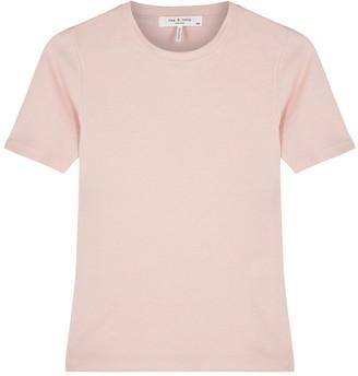 Rag & Bone The Rib Pink Cotton-blend T-shirt