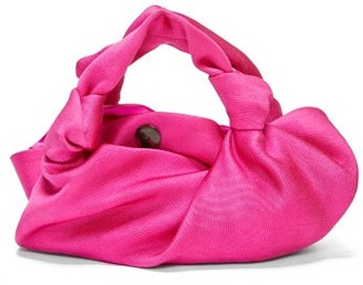 The Row The Ascot Silk Clutch - Pink