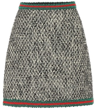 Gucci A-line tweed skirt
