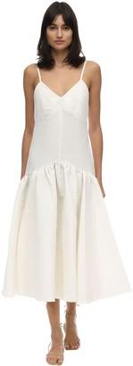 Caftanii Maya Linen & Cotton Midi Dress