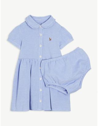 Ralph Lauren Logo cotton dress and bloomers set 3-24 months