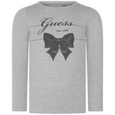 GUESS GuessGrey Bow Print Jersey Top