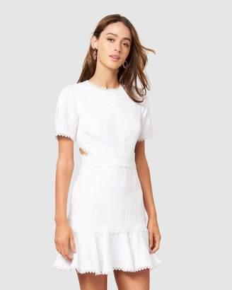 Forever New Leslie Lace Trim Mini Dress