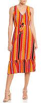 Gianni Bini Stella Stripe Tie Front Dress
