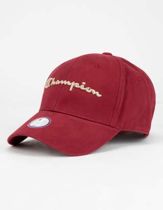 Champion Classic Twill Burgundy Mens Strapback Hat