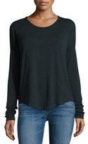 Rag & Bone Hudson Heathered Long-Sleeve T-Shirt, Scarab/Black