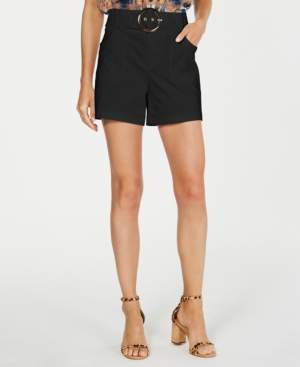 INC International Concepts Inc Petite Solid Buckle Shorts, Created for Macy's
