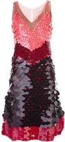 Altuzarra sequined colour block dress - women - Silk/Polyester - 36