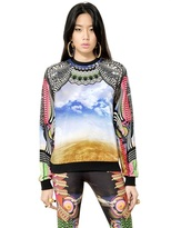 Manish Arora Printed Cotton Velvet Sweatshirt