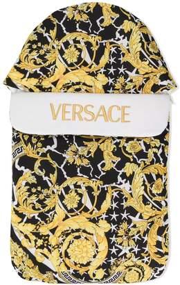Versace logo print sleeping bag