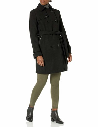 Calvin Klein womens Double Breasted Wool Trench